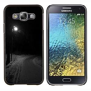 LECELL--Funda protectora / Cubierta / Piel For Samsung Galaxy E5 E500 -- Farola Invierno Camino Oscuro --