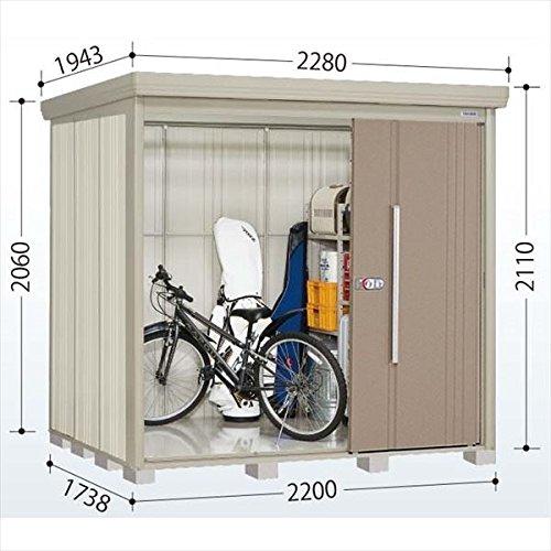 タクボ物置 ND/ストックマン 側面棚 ND-S2217Y 多雪型 標準屋根 『屋外用中型大型物置』 カーボンブラウン B018CAAPVS