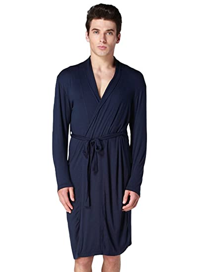 YiLianDa Pijama Camisón Robe Bata Ropa de Dormir para Hombre: Amazon.es: Ropa y accesorios