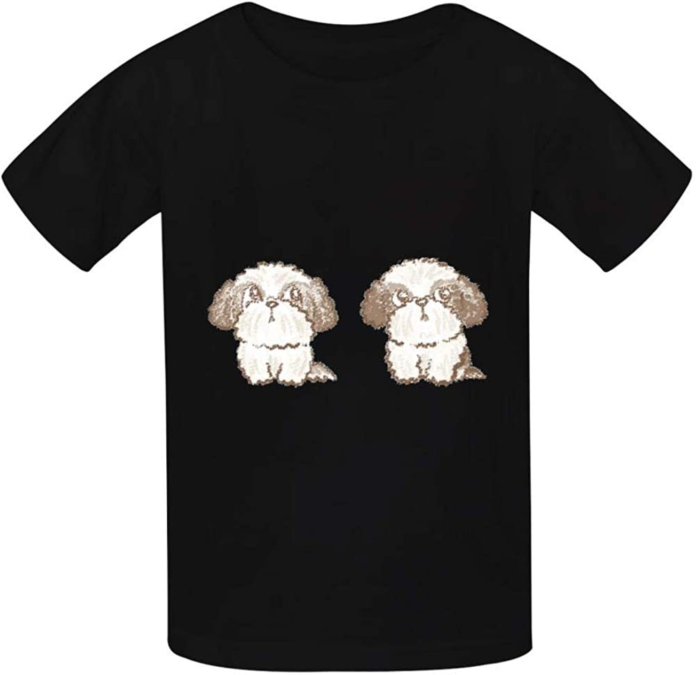 YYIL Shih Tzu Childrens Comfortable and Lovely T Shirt Suitable for Both Boys and Girls
