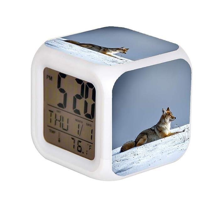 GIAPANO LED Alarma Colock 7 Colores Escritorio Gadget Alarma ...
