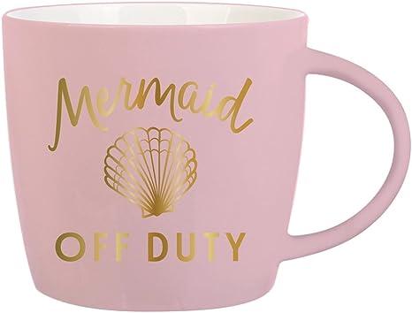 Amazon Com Slant Collections Coffee Mug 14 Ounce Mermaid Off Duty Kitchen Dining