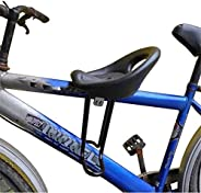 Mountain Bicycle Child Bike Seat,with Back Rest Foot Pedals Mountain Bike Saddle,Front Mounted Bicycle Seats