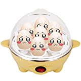 Utheing Egg Cooker Boiler with 7 Egg Capacity, Hard Boil Egg Steamer, Eggs Poacher, Egg Cooking Boilers, 350W US Plug Removable Tray (Yellow)