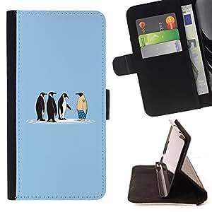 """For Sony Xperia Z5 (5.2 Inch) / Xperia Z5 Dual (Not for Z5 Premium 5.5 Inch),S-type Dibujo inteligente divertido de la historieta"""" - Dibujo PU billetera de cuero Funda Case Caso de la piel de la bolsa protectora"""