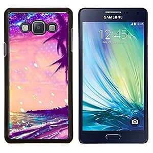 TECHCASE---Cubierta de la caja de protección para la piel dura ** Samsung Galaxy A7 ( A7000 ) ** --Summer Sea Stars vibrante Sol