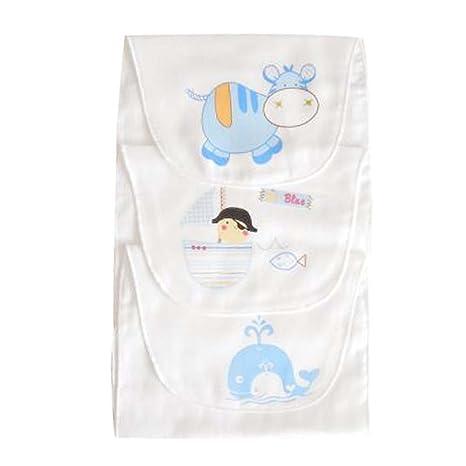 Toallas de gasa de algodón suave juego de 3 toallas absorbentes de sudor de bebé alfombra