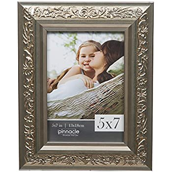 Amazon.com: 5 x 7 Ornate Madera Picture Frame w/Cristal Real ...