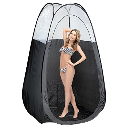 Oasis Spray Tan Machine Kit with Norvell Sunless Tanning Solution Bundle with Disposable Spa Feet and Pop Up Tent