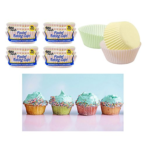 360 Pc Color Baking Cups Fluted Paper Liners Cupcakes Muffin Candy Cookie -