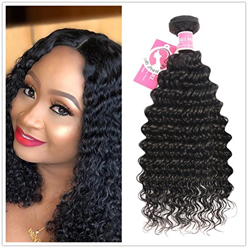 Ali Pearl Deep Wave Weave Hair Bundles Deep Wave Single Bundle Brazilian Human Hair Extentions 1 Bundle (18 bundle)