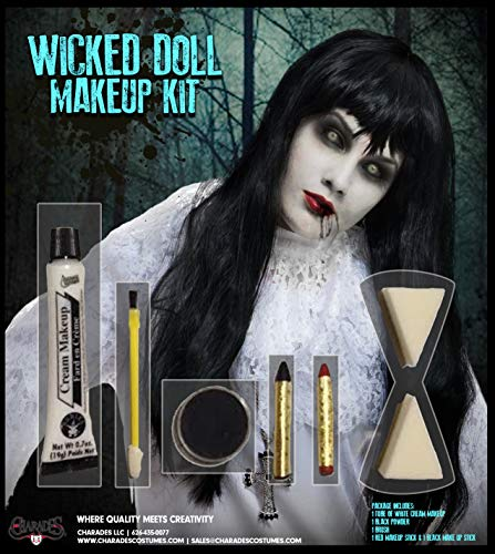 Charades Adult Wicked Doll Makeup Kit]()