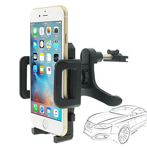 Car Mount, INCARTTM 360° Universal Air Vent Car Mount Aircon Auto Car Holder Cradle for Apple iPhone 6/6s/6s plus/5s/4s, Samsung Galaxy S6/S6 edge/S5, LG, Nexus, HTC, Cell Phone, Smartphone