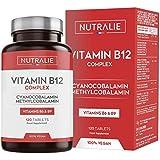 Vitamina B12 Vegana 2000mcg Cianocobalamina y Metilcobalamina | Alta Potencia Sin Aditivos | Reducción Cansancio y…