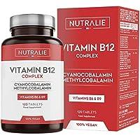 Vitamina B12 Vegana 2000mcg Cianocobalamina y Metilcobalamina | Alta…