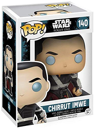 Star Wars: Rogue One Includes Pop Box Protector Case Funko Pop Chirrut Imwe Vinyl Bobble-Head Figure