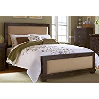 Progressive Furniture Willow Upholstered Headboard, 82 x 4 x 55/King, Distressed Black