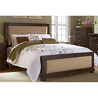 Progressive Furniture Willow Upholstered Headboard, 82 x 4 x 55/King, Distressed Black