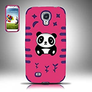 For Samsung© Galaxy S4 PC/SC Panda Bear 3D Design Case Cover - Hot Pink/Purple
