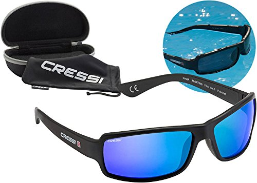 Cressi Ninja Floating, Adult Sport Buoyant Sunglasses, Polarized Lenses, Protective Case | Best for Boating, Sailing, Fishing, Water Sports, Beach Activities, Running, Cycling, Hiking, Trekking