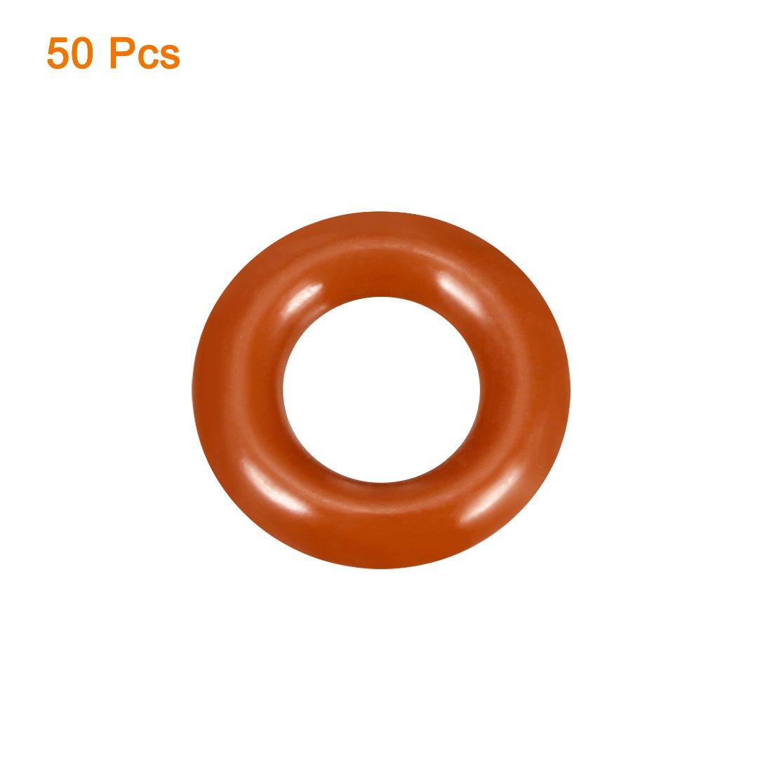 130.2mm Inner Diameter 1PCS 135mm Outside Diameter sourcingmap Silicone O-Ring 2.4mm Width VMQ Seal Rings Sealing Gasket Red