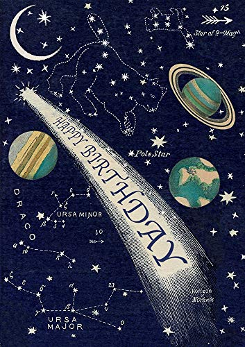 (Madame Treacle Planets, Constellations and Shooting Star Birthday Card)