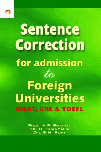 Shop online Sentence Correction for Admission Foreign Universities