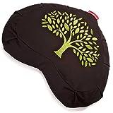 Peace YogaZafuMeditation Buckwheat Filled Crescent Cotton Bolster Pillow Cushion – Choose...