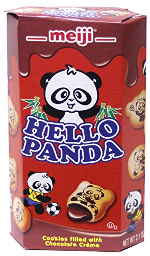 Creme Filled Chocolate Cookies - Meiji Hello Panda Cookies filled with Chocolate Creme Pack of 10