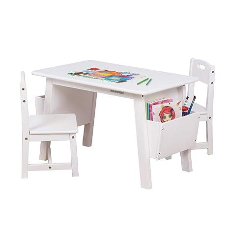 Amazon.com: Mesa infantil de madera maciza, escritorio de ...