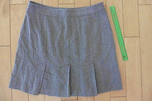 NEW Ann Taylor Loft Skirt herringbone pattern size 12 brown beige $39 work wool