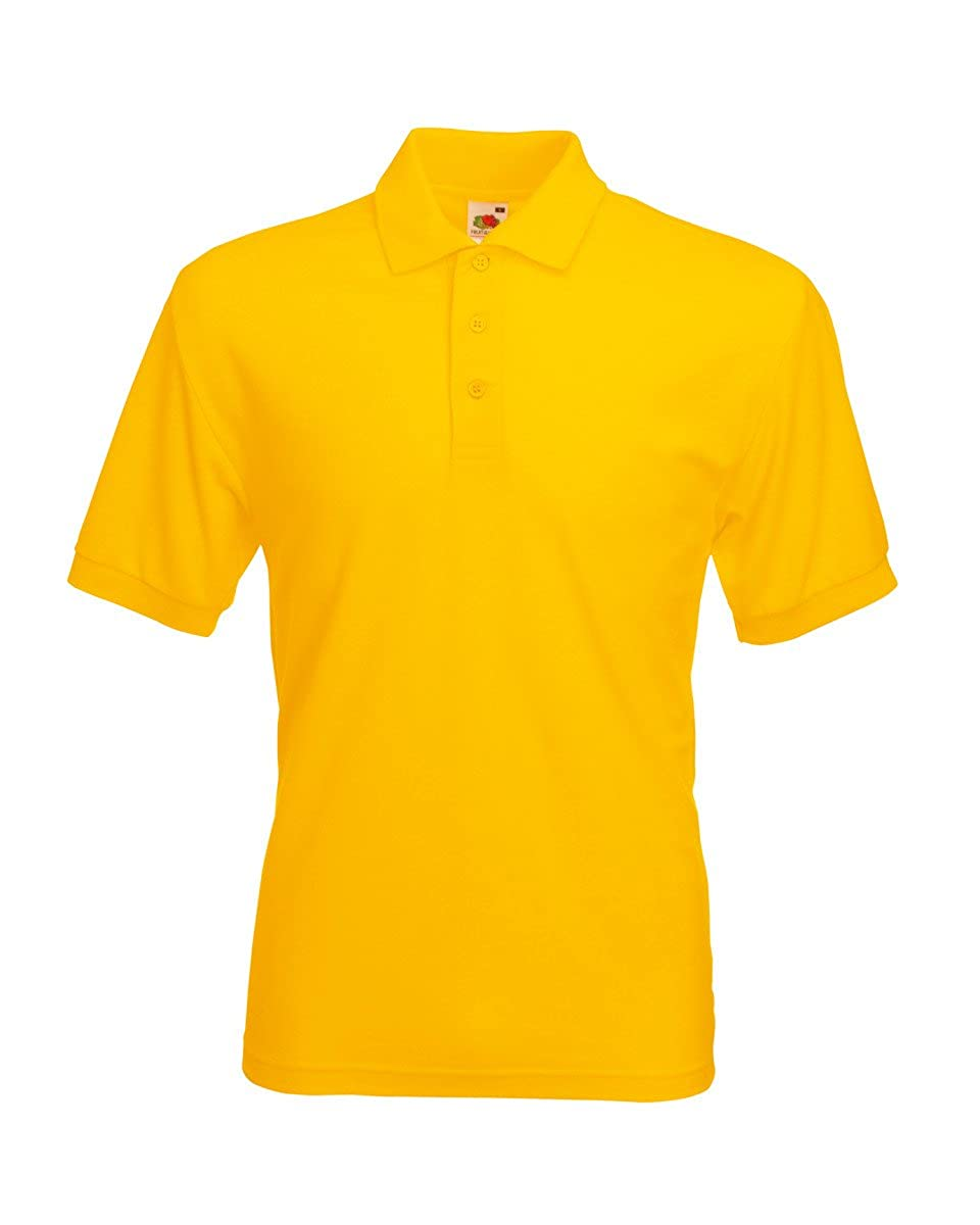 Fruit of the Loom SS033M-Polo Hombre Amarillo Yellow (Sunflower ...