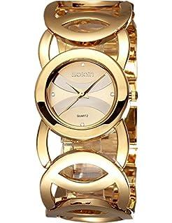 969bf09fcd10 Relojes Mujer 2017 Moda Mujer Reloj Encantador Para Las Decoraciones De  Cristal De Oro De Las