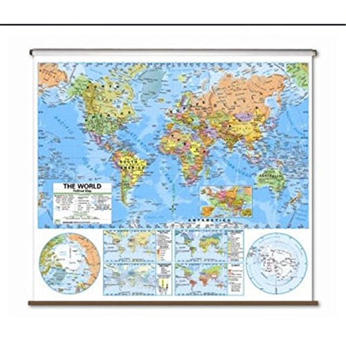 World Advanced Political Classroom Map on Roller