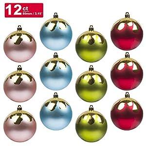 KI Store Christmas Tree Decorations Decorative Ball Ornaments Hanging Decor 6