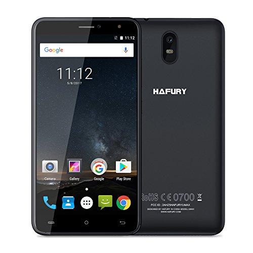 CUBOT HAFURY UMAX 6inch 3G GSM WCDMA Unlocked Dual Sim Smartphone 4500 mAh Battery Android 7 16GB ROM+2GB RAM 13MP+5MP Dual Camera WFI GPS-Black