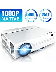 [UPGRADED] ABOX 2020 Native 1920 x 1080p TV Projector, 5000 Lux, 50000 Hrs, 2x HiFi Speakers, 2 x HDMI Ports, VGA Ports, Compatiable with TV Stick, Phones