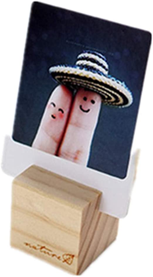 Table Card Note Photo Memo Clip Wooden Messages Clip Memo Holder Photo Clip
