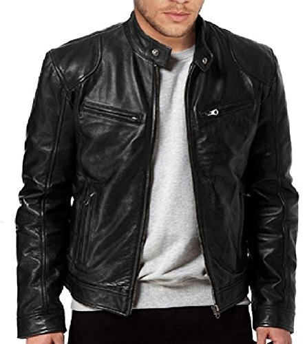 Soft And Slim Leather Jacket for Mens. (Genuine Leather Jacket) by The Jacket Makers