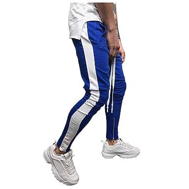 pantalón Largo Deporte para Hombre Pants de chándal Moda Casual ...