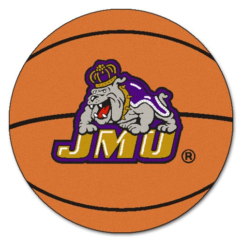 FANMATS NCAA James Madison University Dukes Nylon Face Basketball Rug