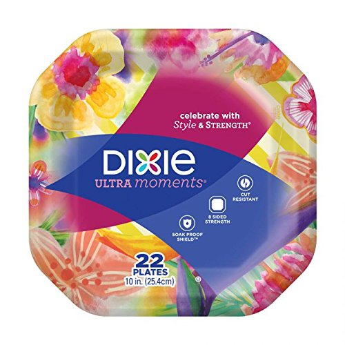 Dixie Ultra Moments Paper Plates, 10 Inches, 22 Count; Designs May Vary