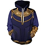 HIMIC E77C Super Hero Fashion Cosplay Hoodie Jacket (X-Large, Thanos Hoodie)