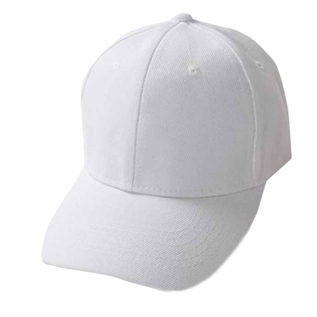 Pure Baseball Caps,Hemlock Snapback Hats Hip-Hop Adjustable Fishing Hat Sun Cap Adjustable Beach Hats (White)