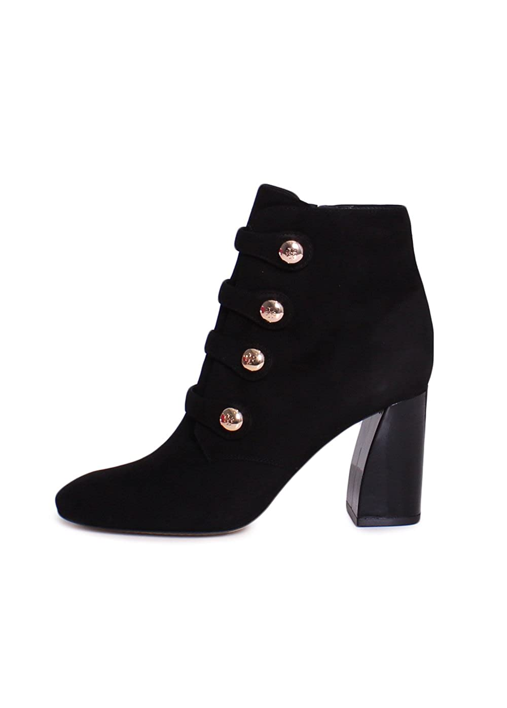 4b5e7747c Tory Burch Marisa Lancaster Suede 85MM Strappy Button Ankle Booties in Black  Size 8  Amazon.ca  Shoes   Handbags