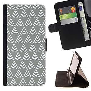 - Queen Pattern FOR Apple Iphone 5 / 5S /La identificaci????n del cr????dito ranuras para tarjetas tir????n de la caja Cartera de cuero cubie - polygon pattern grey white minimali