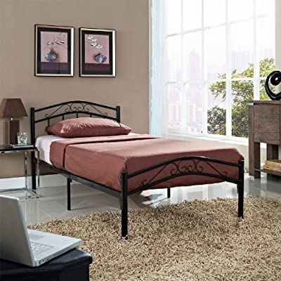 LexMod Townhouse Iron Twin Bed Frame