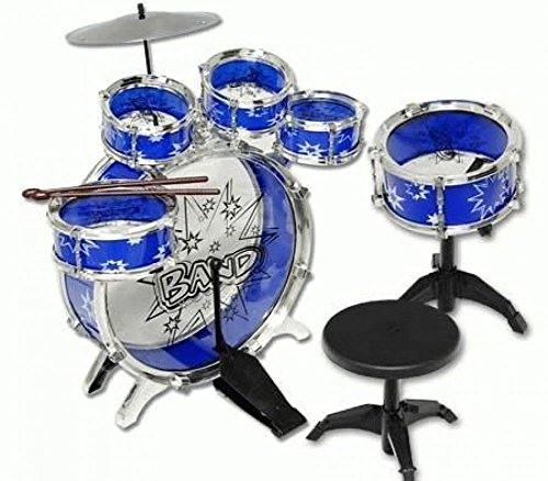 Buy cheap ampersand shops kids blue musical instrument drum set 11pc toy playset