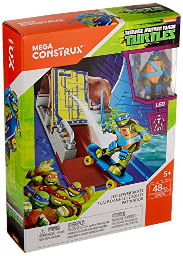 Mega Construx Teenage Mutant Ninja Turtles Leo Sewer Skate Building Set