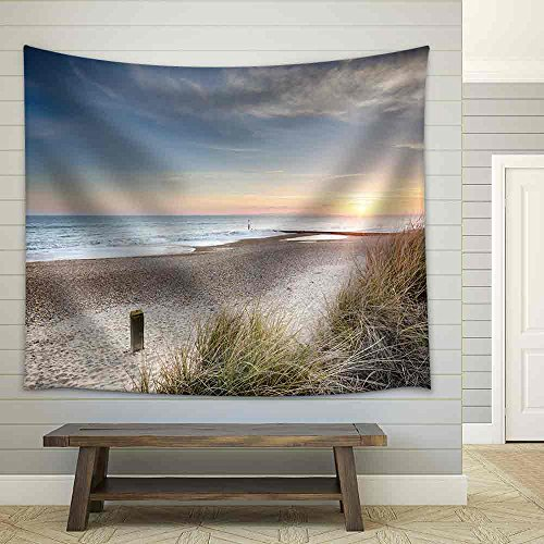 Sunset in the Sand Dunes at Hengistbury Head near Bournemouth in Dorset Fabric Wall